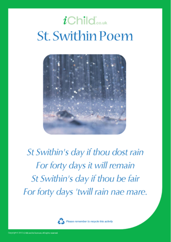 Thumbnail image for the St. Swithin Poem (Old English) activity.