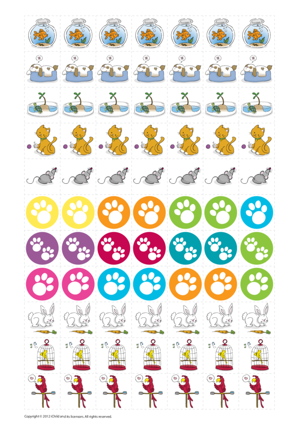 Caring for Pets Reward Chart Stickers