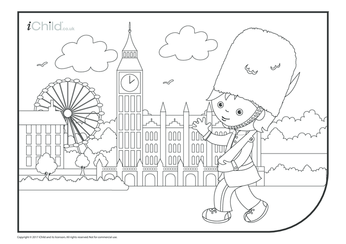 Thumbnail image for the Trooping the Colour Guard Colouring in Picture activity.