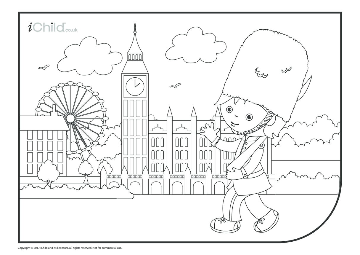 Trooping the Colour Guard Colouring in Picture