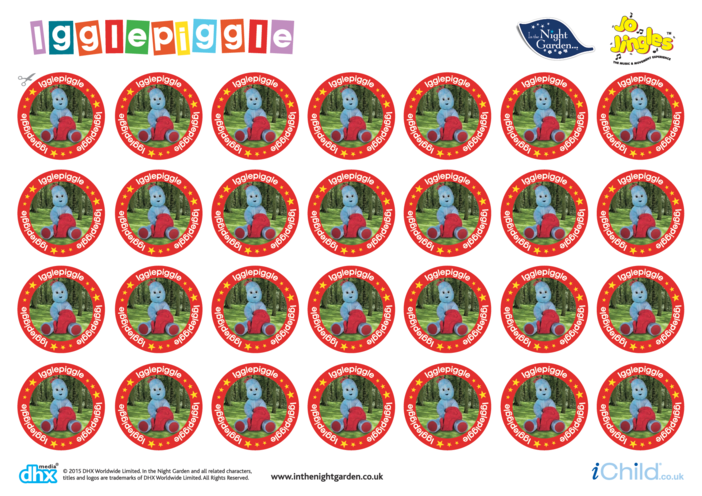 Thumbnail image for the In the Night Garden Sticker Sheet: Igglepiggle activity.