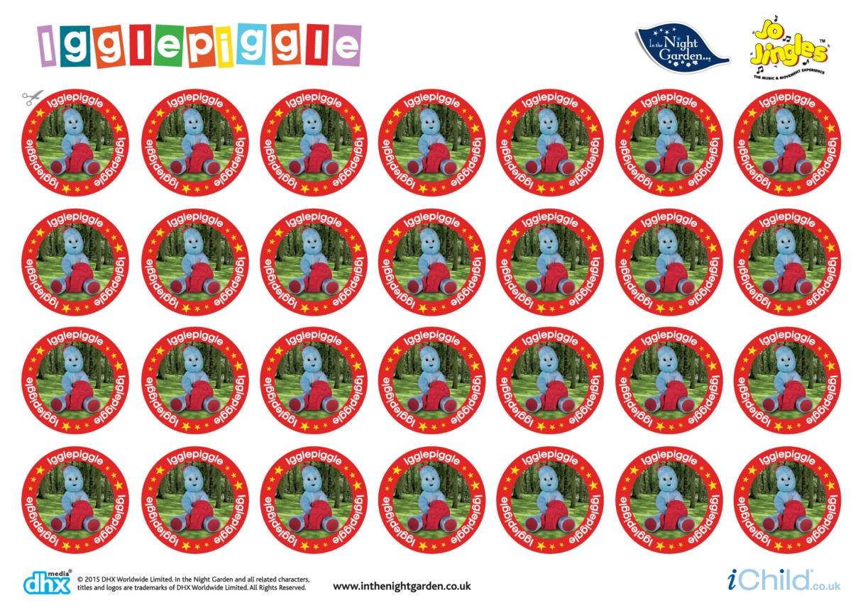 In the Night Garden Sticker Sheet: Igglepiggle