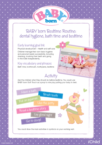 Thumbnail image for the BABY born Bedtime Routine activity.