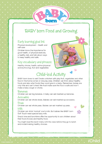 Thumbnail image for the BABY born Food & Growing activity.