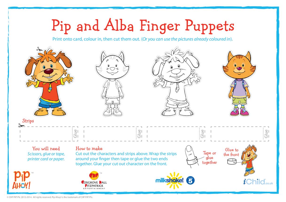 Pip & Alba Finger Puppets (Pip Ahoy!)