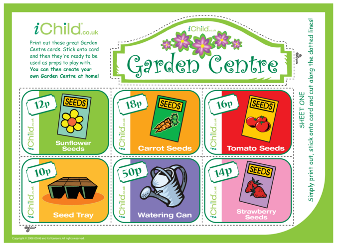 Thumbnail image for the Garden Centre Role Play activity.