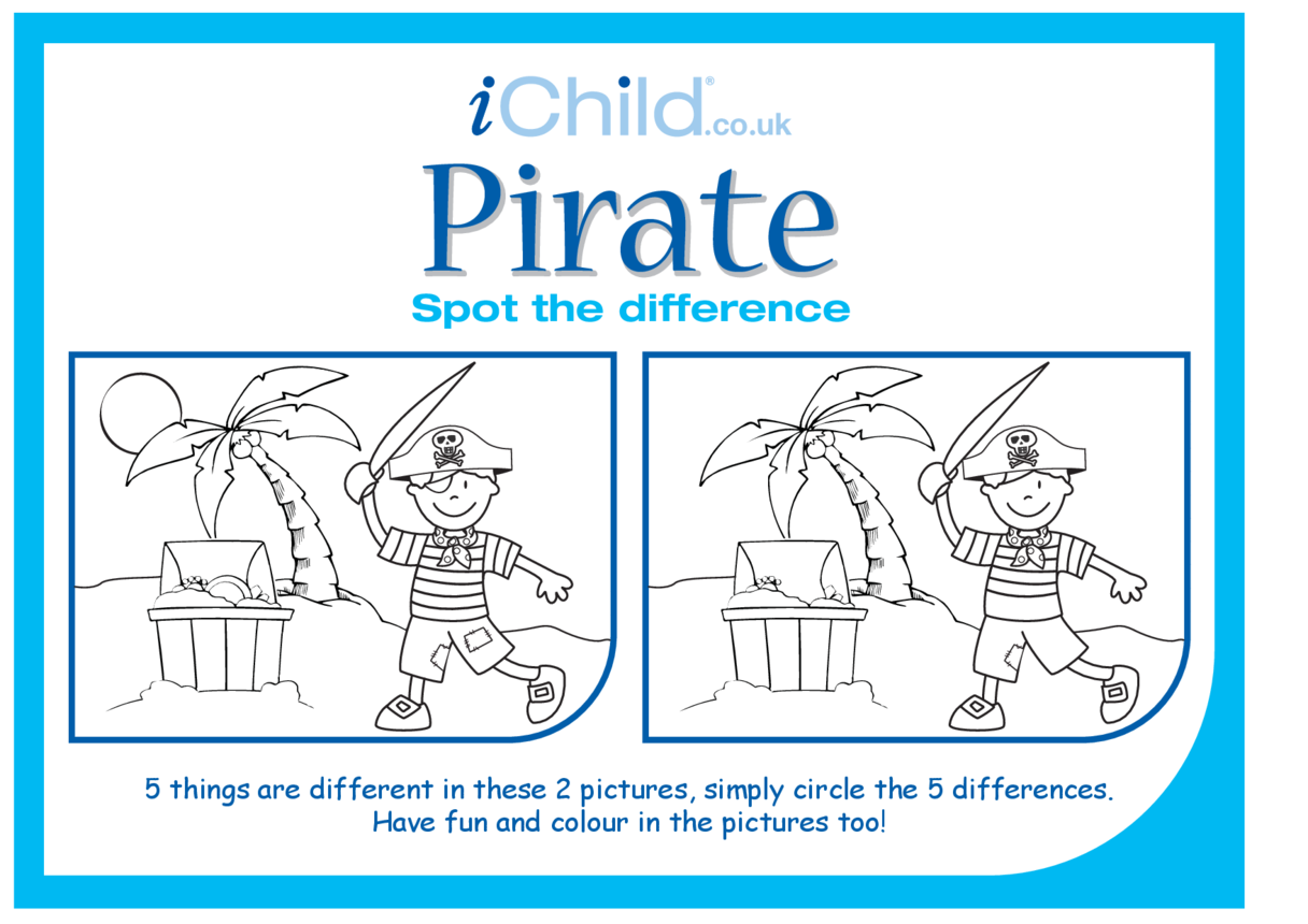 Pirate Spot the Difference
