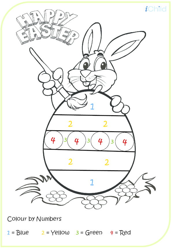 Easter Colour by Numbers - Easy