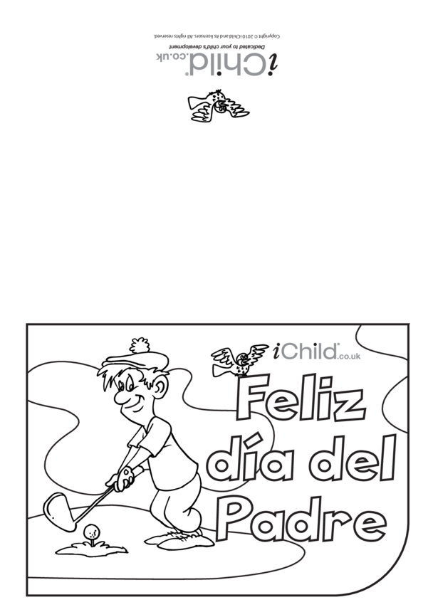 Father's Day Card in Spanish- Golf