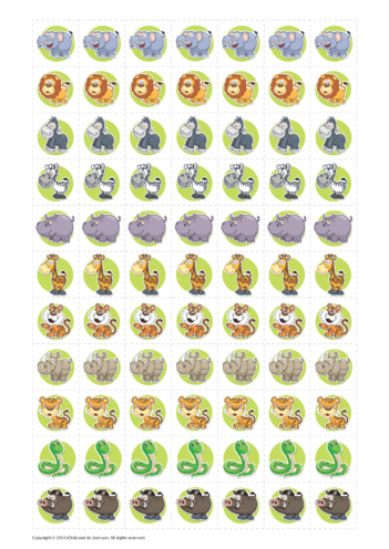Thumbnail image for the Jungle Reward Chart Stickers activity.