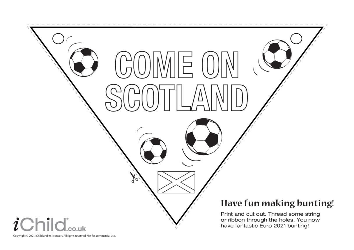 Come on Scotland Football Bunting (black & white)