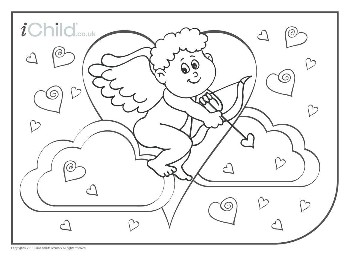 Cupid Colouring in picture