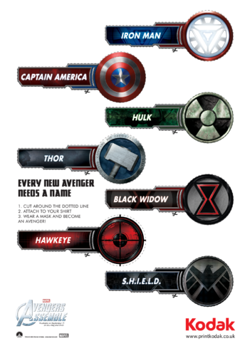 Thumbnail image for the Super Hero Name Badges activity.