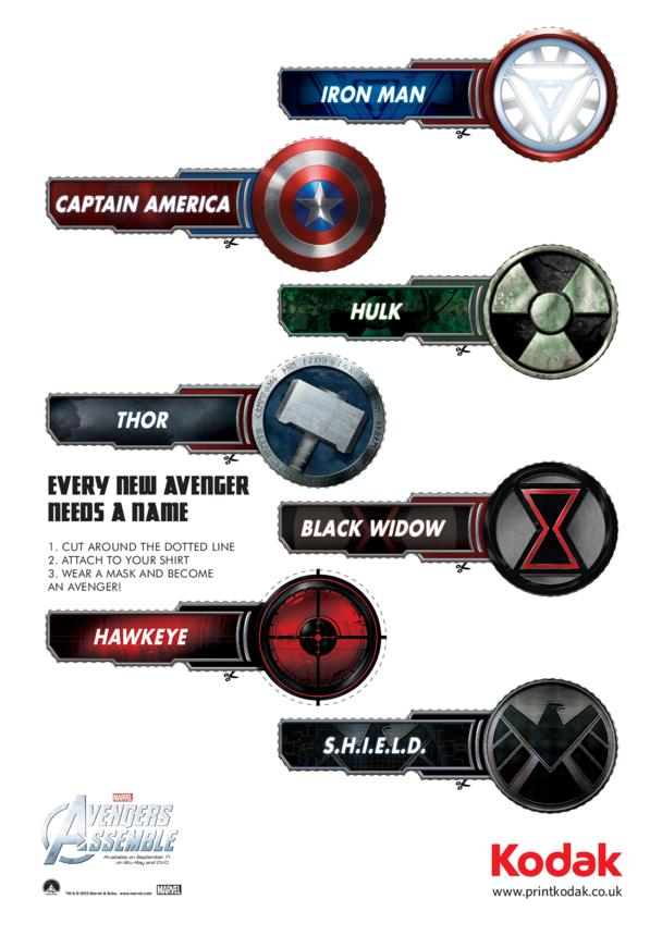 Super Hero Name Badges