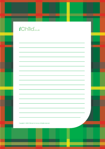 Thumbnail image for the Burns' Night Lined Writing Paper Template activity.