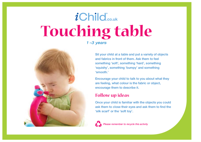 Thumbnail image for the Touching Table activity.