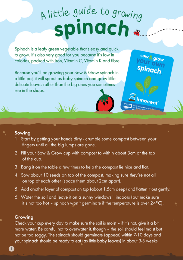 innocent - Growing Guide - Spinach