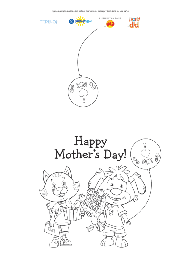 Pip Mother's Day Colour In Card (Pip Ahoy!)