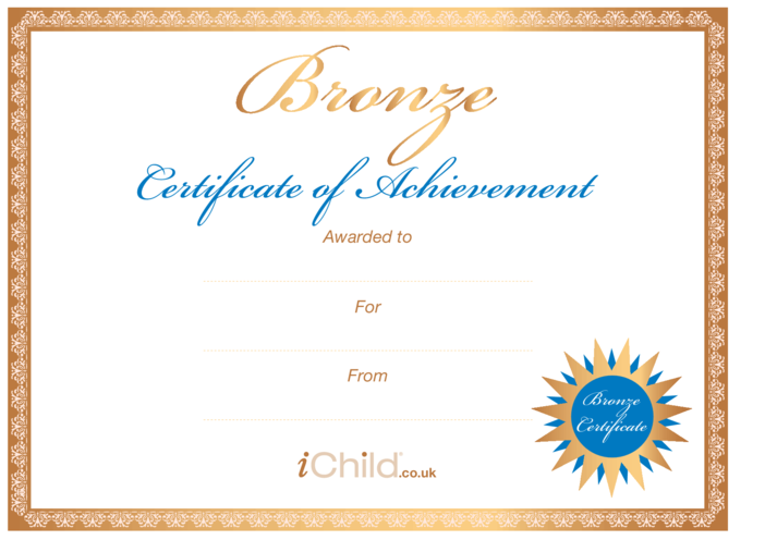 Thumbnail image for the Certificate - Bronze activity.