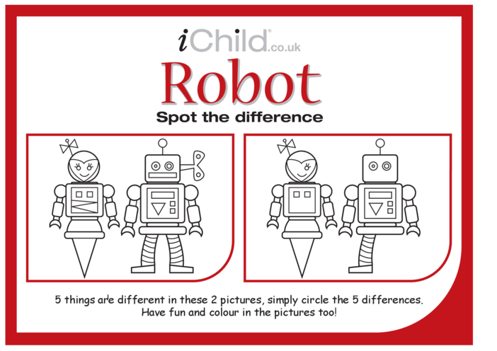 Thumbnail image for the Robot Spot the Difference activity.