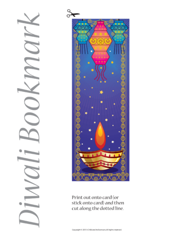 Thumbnail image for the Diwali Bookmark- Blue activity.