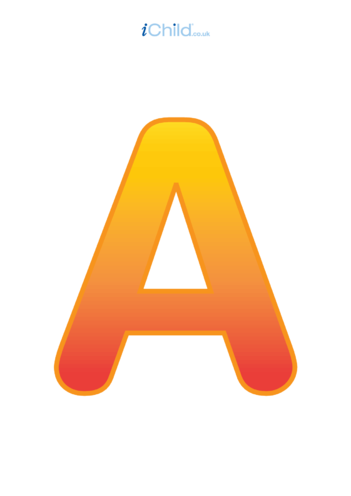 Thumbnail image for the A: Poster of the Letter 'A' activity.