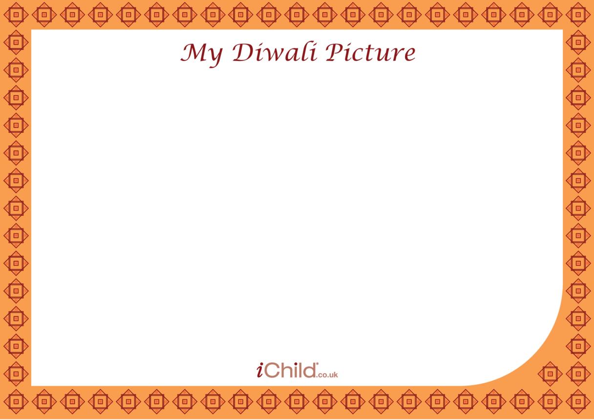 Diwali Blank Drawing Template