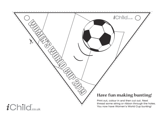 Thumbnail image for the Women's World Cup 2019 - Bunting (black & white) activity.