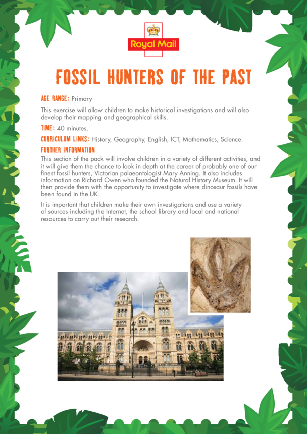 Primary 2) Fossil Hunters of the Past Lesson Plan