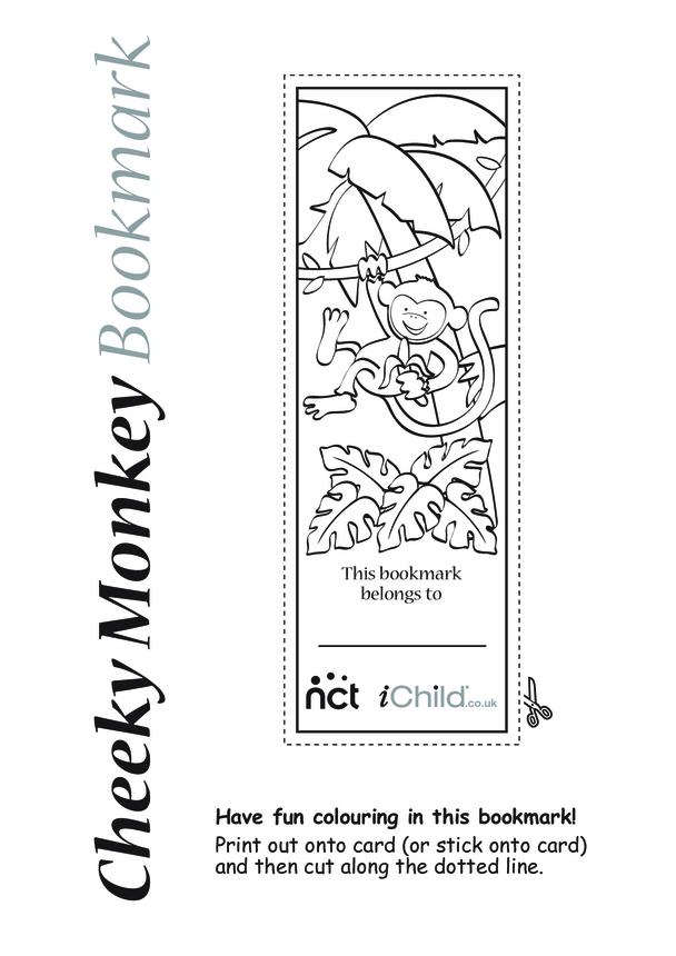Cheeky Monkey Bookmark