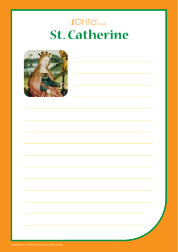 Thumbnail image for the St. Catherine Lined Writing Paper Template activity.