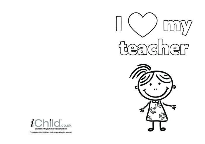 Thumbnail image for the I Love My Teacher Card  activity.