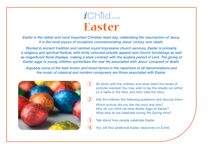 Thumbnail image for the Easter Religious Festival Story activity.