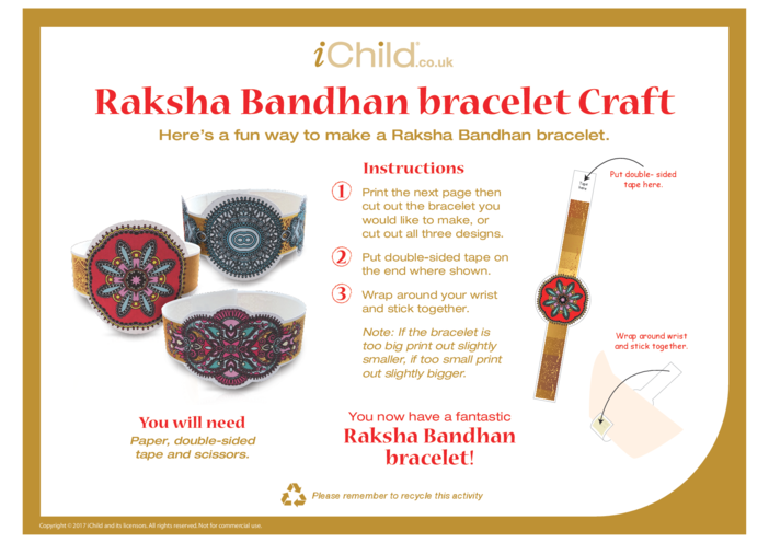 Thumbnail image for the Raksha Bandhan Bracelet activity.