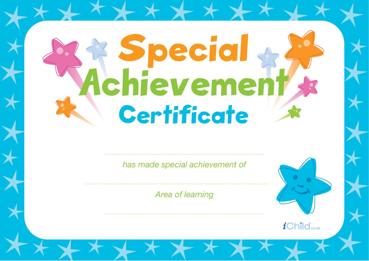 Special Achievement Certificate (blue)