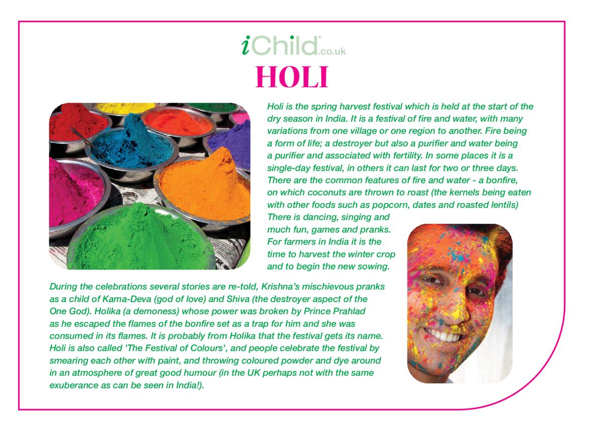 Holi Religious Festival Story
