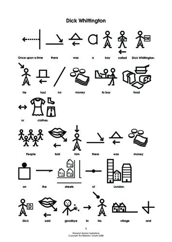 Thumbnail image for the Dick Whittington Makaton Symbols activity.