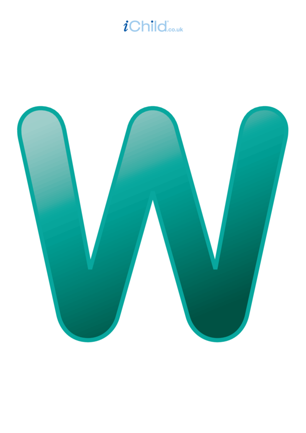 W: Poster of the Letter 'W'