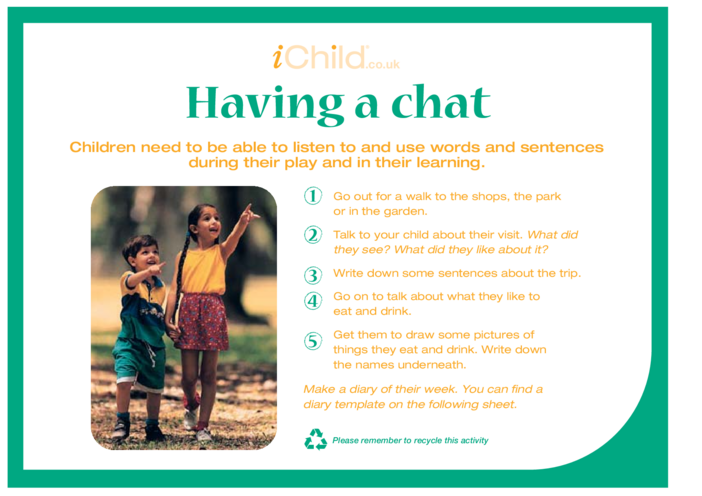 Thumbnail image for the Having a Chat activity.