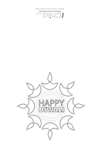 Thumbnail image for the Happy Diwali Card activity.