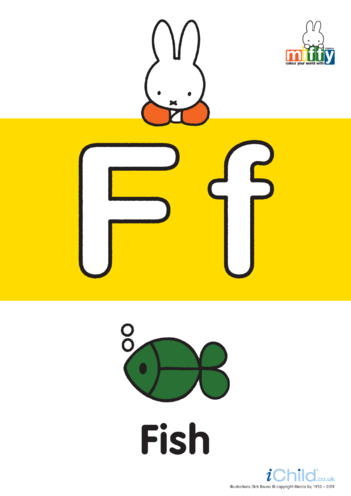 Thumbnail image for the F: Miffy's Letter Ff activity.