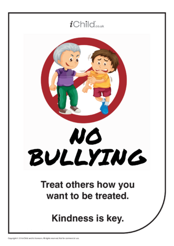 Thumbnail image for the Anti-Bullying Poster: Kindness is Key activity.