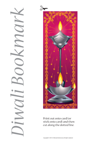 Thumbnail image for the Diwali Bookmark- Pink/Purple activity.