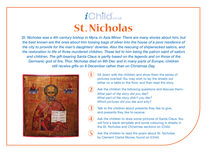 Thumbnail image for the St. Nicholas Religious Festival Story activity.