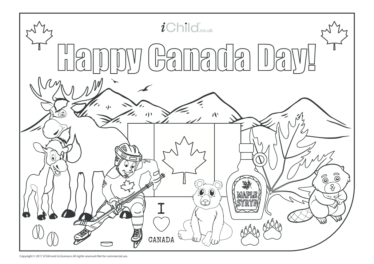 Happy Canada Day Card (landscape)