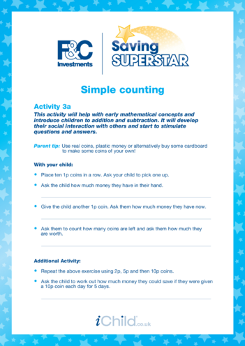 Thumbnail image for the Under 5 years (3a) Simple Counting activity.