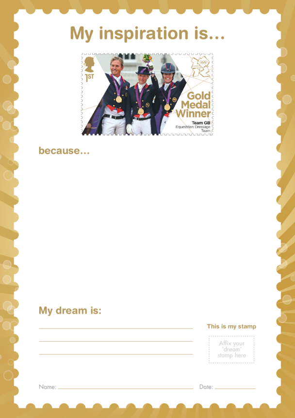 My Inspiration Is- Team GB Equestrian Dressage- Gold Medal Winner Stamp