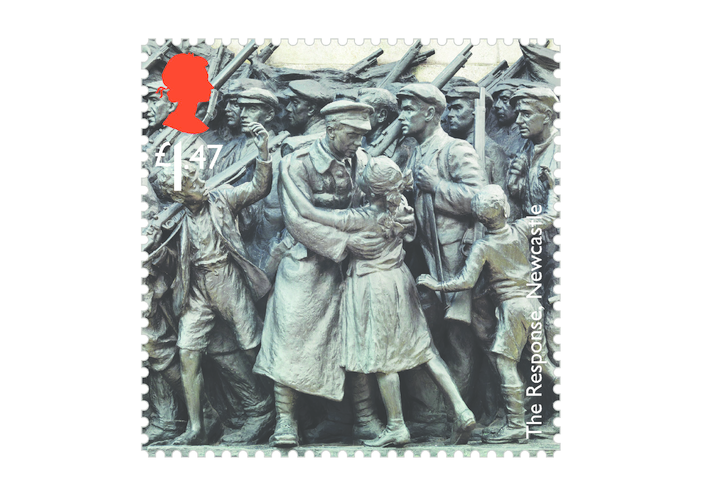 Thumbnail image for the Royal Mail iStamp Club The Great War 1914 - The Response Stamp activity.