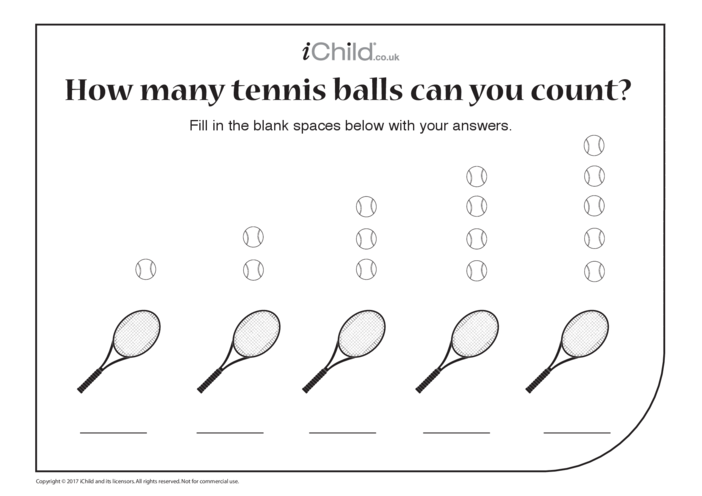Thumbnail image for the Counting Tennis Balls activity.