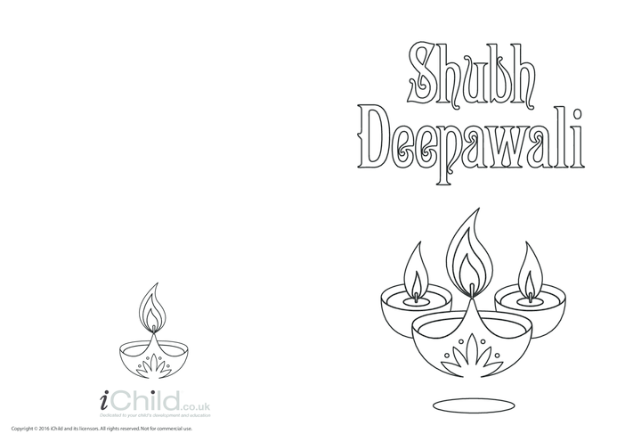 Thumbnail image for the Shubh Deepawali Card activity.
